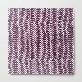 Hand Knit Plum Metal Print