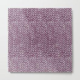Hand Knit Plum Metal Print