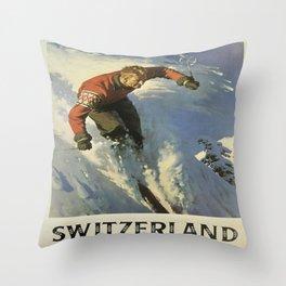 Vintage poster - Switzerland Throw Pillow
