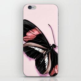 Papillon rouge et noir iPhone Skin