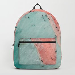 Aerial Beach Print, Ocean Art, Bondi Beach, Beach Art Print, Beach Photography, Modern Beach Lifestyle Print Backpack