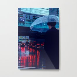 Tokyo Nights / Rain over Tokyo / Liam Wong Metal Print