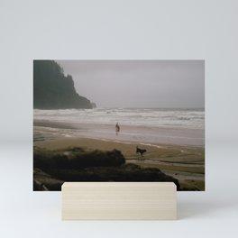 Playing on the Oregon Coast // Oregon Mini Art Print