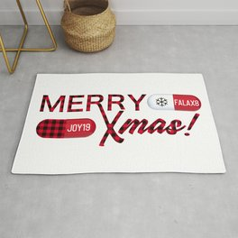 Merry Xmas with pills Rug