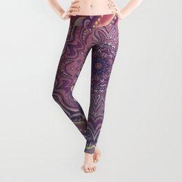 Pink and Blue Mandala Leggings