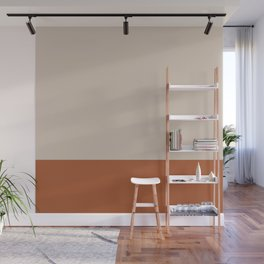 Minimalist Solid Color Block 1 in Putty and Clay Wall Mural