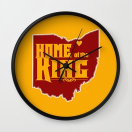 Home of the King (Yellow) Wall Clock