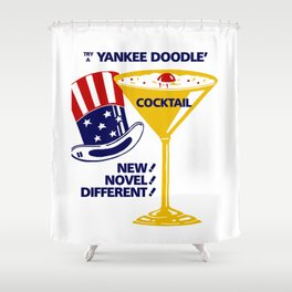 Try a Yankee Doodle cocktail Shower Curtain
