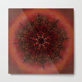 Radical Red (Mandala) Metal Print