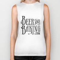 baking Biker Tanks featuring Beer and Baking Logo by BeerandBaking