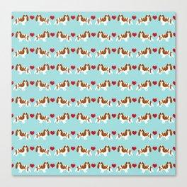 Cavalier King Charles Spaniel blenheim heart dog breed spaniels pet gifts Canvas Print
