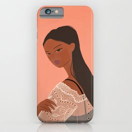 Lady in Lace Dress iPhone Case