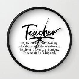 Teacher Definition Wall Clock