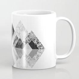 Geometrical mountains in black and white - Scandinavian art Coffee Mug