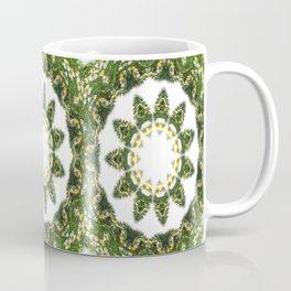Little White Wildflower Kaleidoscope Art 5 Coffee Mug