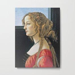 Botticelli - Portrait Of Simonetta Vespucci Metal Print
