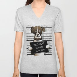 cartoon dog prisoner Unisex V-Neck