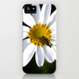 Green bug in daisy iPhone Case