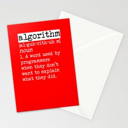 Algorithm computer scientist gift idea Stationery Cards