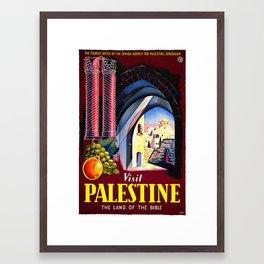 Visit Palestine The Land Of THE BIBLE Framed Art Print