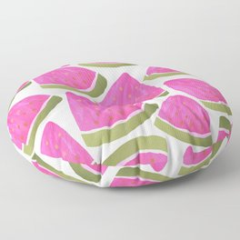 Watercolour Watermelons Floor Pillow