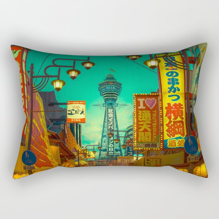 Osaka Nights - Shinsekai, New World / Liam Wong Rectangular Pillow