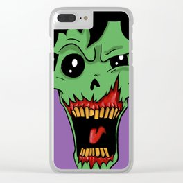 Zombie! Clear iPhone Case