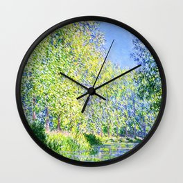 Monet: Bend in the River Epte Wall Clock