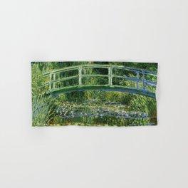 Water Lilies and Japanese Footbridge, Claude Monet Hand & Bath Towel