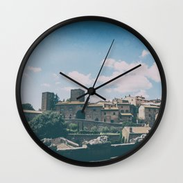 Tuscania medieval village in summer Wall Clock