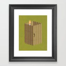 The Neighbor Gap Framed Art Print