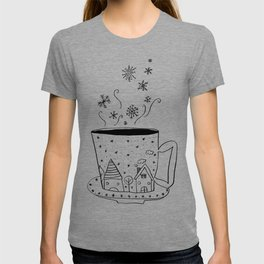 A cup of snow flakes T-shirt