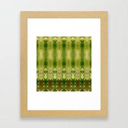 """Green diamonds pattern"" Framed Art Print"