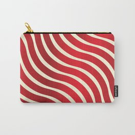 Abstract Waves illusion Pattern - Red Carry-All Pouch