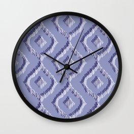 Ikat Blues II Wall Clock