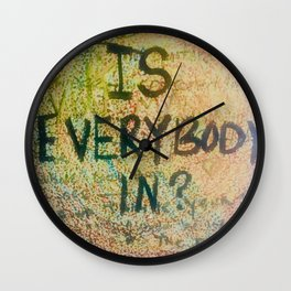 Is Everybody In Graffiti Morrison Room 32  Wall Clock