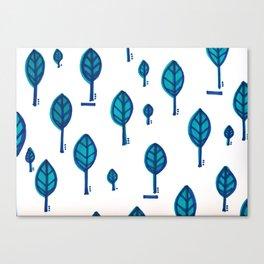 Standing Leaf Print Canvas Print