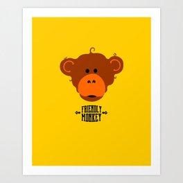 friendly monkey Art Print