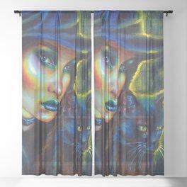 My spirit animal Sheer Curtain