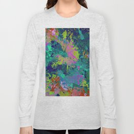 Messy Art I - Abstract, paint splatter painting, random, chaotic and messy artwork Long Sleeve T-shirt