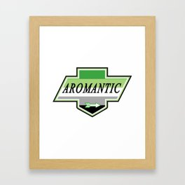 Identity Stamp: Aromantic Framed Art Print