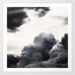 clouds pass by  Art Print