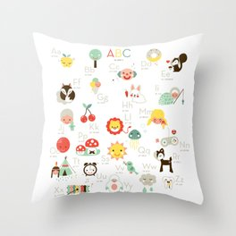 A is like apple Throw Pillow
