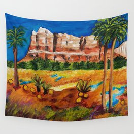 Courthouse Butte Rock, Sedona Arizona Wall Tapestry