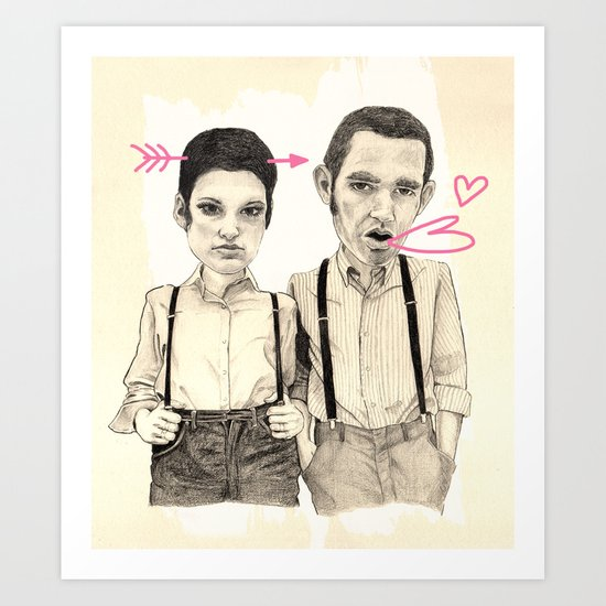 Meet the Valentines Art Print
