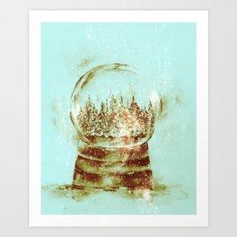 Snow globe -sepia Art Print