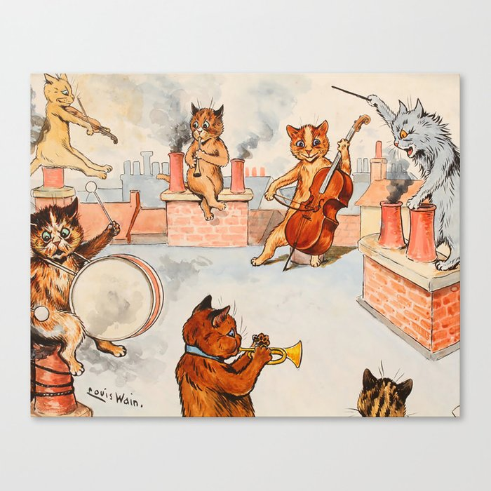 CATS ORCHESTRA - Louis Wain Cats Canvas Print