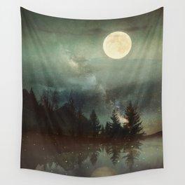 Midnight Fireflies Wall Tapestry