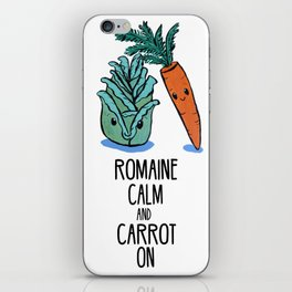 Romaine Calm and Carrot On iPhone Skin