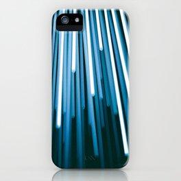 Hyperspace Fiber Optics Blue white Streaks Of Light iPhone Case